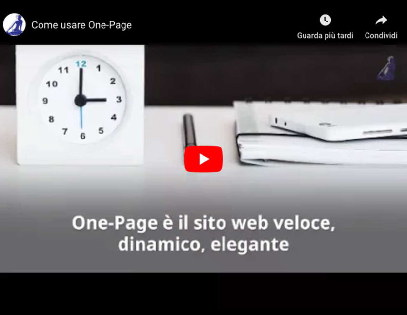 Video sui temi One-Page