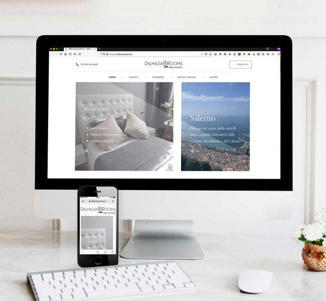 Sito web da iMac e smartphone DalmaziaRooms.it