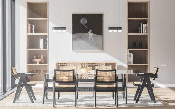 Ambiente, interior design con illustrazioni di © Roberta Coralluzzo