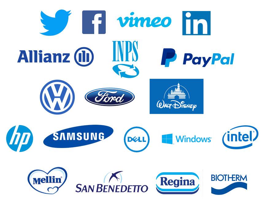 brand che usano il colore blu