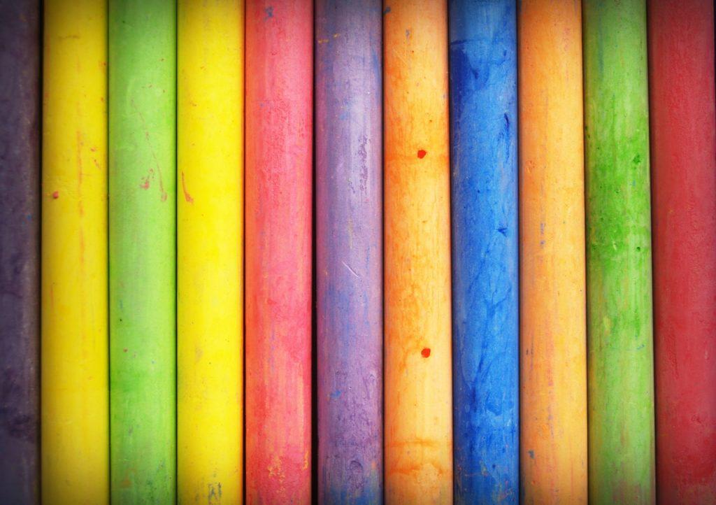 Barre colorate foto pexels.com