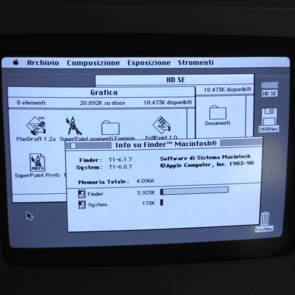 Schermo del Macintosh SE