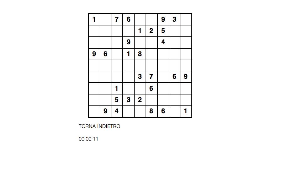 Schema del Sudoku