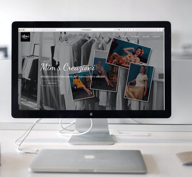 Il sito Mim's moda visto dal computer