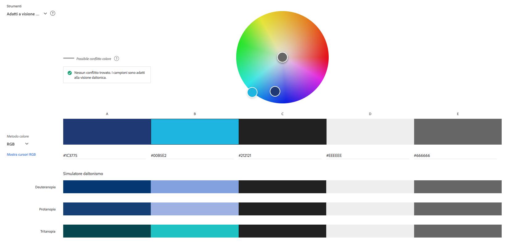 Palette di colori per Iltoroperlecorna